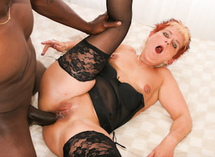 Grandma Loves Black Cock, Scene #01