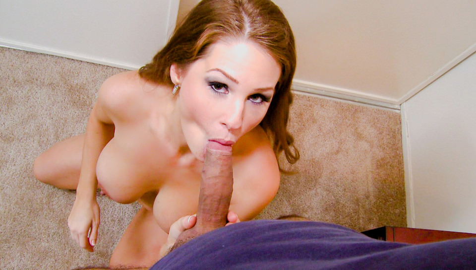 Allison Moore swallows monster cock