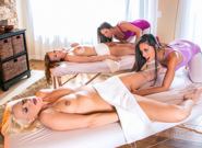 Asian Women : Mother Daughter Spa Day - Annika Albrite & Lizz Taylor & Lyla Storm & Tanya Tate!