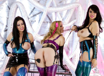 Scifi girls tera patrick anastasia pierce angela f. Mistress Tera gets naughty with her two friends.