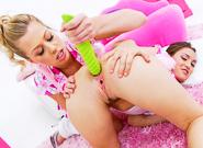 Top Porn Stars : Lil Gaping Lesbians #06 - Gabriella Paltrova & Zoey Monroe!