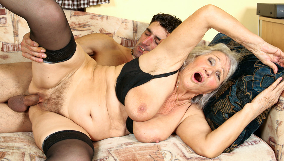 Busty euro granny Marinoka loves young flesh