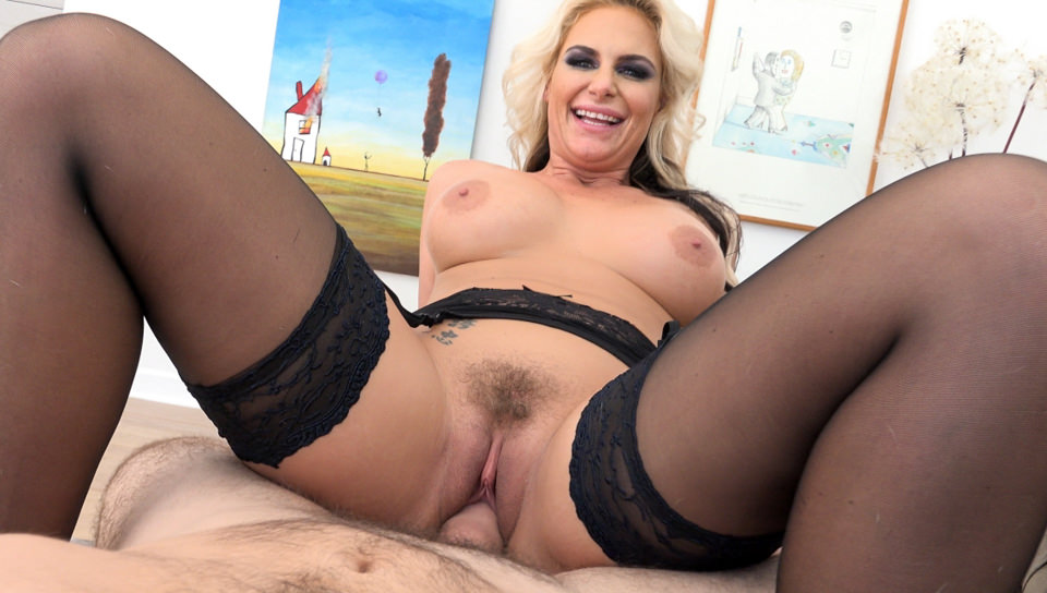 Dirty talk scene 01. Busty, brassy blonde MILF Phoenix Marie talks a filthy streak directly to viewers while getting three holes thickly reamed in stud Manuel Ferrara's striking, POV-style footage. The scene starts with a close-up of Phoenix's slutty mouth as she unleashes her nastiest thoughts: '... slide your penish down my little, prostitute mouth ... let me lick your fuckin' balls and your analy ... shove every inch of that penish up my analy until I gape like a good little prostitute...' POV camera work puts the viewer in the fucker's seat as playful, compliant shit-talker Phoenix sucks fat penish, tongues bunghole and balls, gets her throat choked, puffy cunt pounded and large butthole porked. Looking into your eyes, she strokes semen into her mouth and swallows.