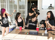 Between scenes hang out sex 2 joanna angel lily lane small hands xander corvus vera drake. I joined Lily and Xander who were already having naked fun. Their relationship wouldn't be official unless I have intercourse them too, having set them up like a porno matchmaker. I obliged and hopped in to delight Lily's clit as she got railed by her man. I sat on Xander's face and made him lick my pussy, among other things. have sex your boss and girlfriend in the anal at the same time is awesome! And since we're just having a great sex party, Small Hands and Vera Drake came to finish this sticky shindig right - I had to gift Lily with another DP and Vera with a face full of cum! We're one great happy porno family.
