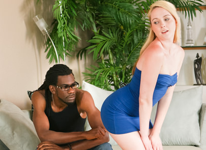 White bitches prefer black dick 02 john e depth ashley stone. Blonde slut Ashley Stone is delighted with huge black tool