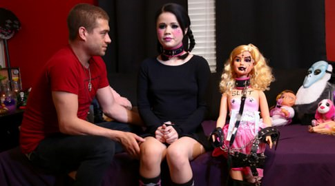 Yhivi bottom teenage fuckdoll xander corvus yhivi. Yhivi roleplays erotically as a creepy gothic doll, and the one thing that can bring her to life is rough sex in the darkness! It's as if Yhivi is possessed by the devil himself, only it's Xander Corvus and his Satanic tongue and dick doing the dark lord's work inside her demonic dolly vagina and anushole - and we wouldn't have it any other way. From her pigtails, natural tits and bush, perfect round anus and gloriously deep throat - it's scary how perfect she is. He will invoke the power of orgasm upon her anally to return this evil plaything to the depths from which she came!