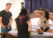 Bts episode 75 joanna angel jessica creepshow rachael madori. Porn starlet Rachael Madori graced the set of I Banged My Tattooed Step-Sister In The arse with her presence, Taurus and I talked family relations, and Jessica Creepshow has a long discussion about being a total video game nerd. She wants some Mortal Kombat skins for her controllers, is obsessed with Left For Dead, plays a lot of arseassin's Creed - she's so cool, and I have no idea what any of these games or terms are, but it turns me on to see her geek out about it! Authentic gamer chicks who love to fuck. Nice!