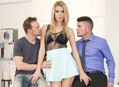 Dp sluts richy erik everhard karina grand. Slutty Karina Grand gets double penetrate by two studs.